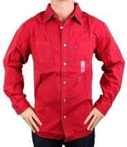 NEW LEVI'S MEN'S COTTON CLASSIC LONG SLEEVE DENIM BUTTON UP DRESS SHIRT-81060