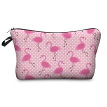 Flamingo Makeup Bag Cosmetic Travel Case Storage Beauty Organizer Handbag - $9.99