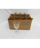 Case of 12 Vintage Luminarc Bengale 8 ounce Wine Goblets/Stems NIB - $34.99