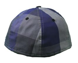 Dissizit Dx11 Bones Gingham Blue & Black New Era 59FIFTY Fitted Baseball Hat NWT image 4