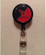 Nfl Arizona Cardinals Badge Reel black red alligator clip handmade new - $6.95