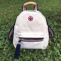 Authentic Tory Burch Embroidered-T Canvas Backpack - $135.00