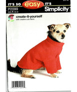 """Simplicity Dog's Shirt Pattern P2099 Size XS-M Chest From 12-23"""" Weight ... - $7.91"""
