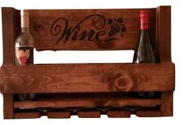 Rustic Pallet Wine Rack, Wine Rack, Wooden Wine Rack - $34.95