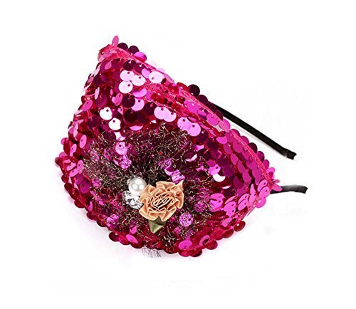 Elegant Headband Fashion Hairband Wide Headwrap Hair Accessories, Rose