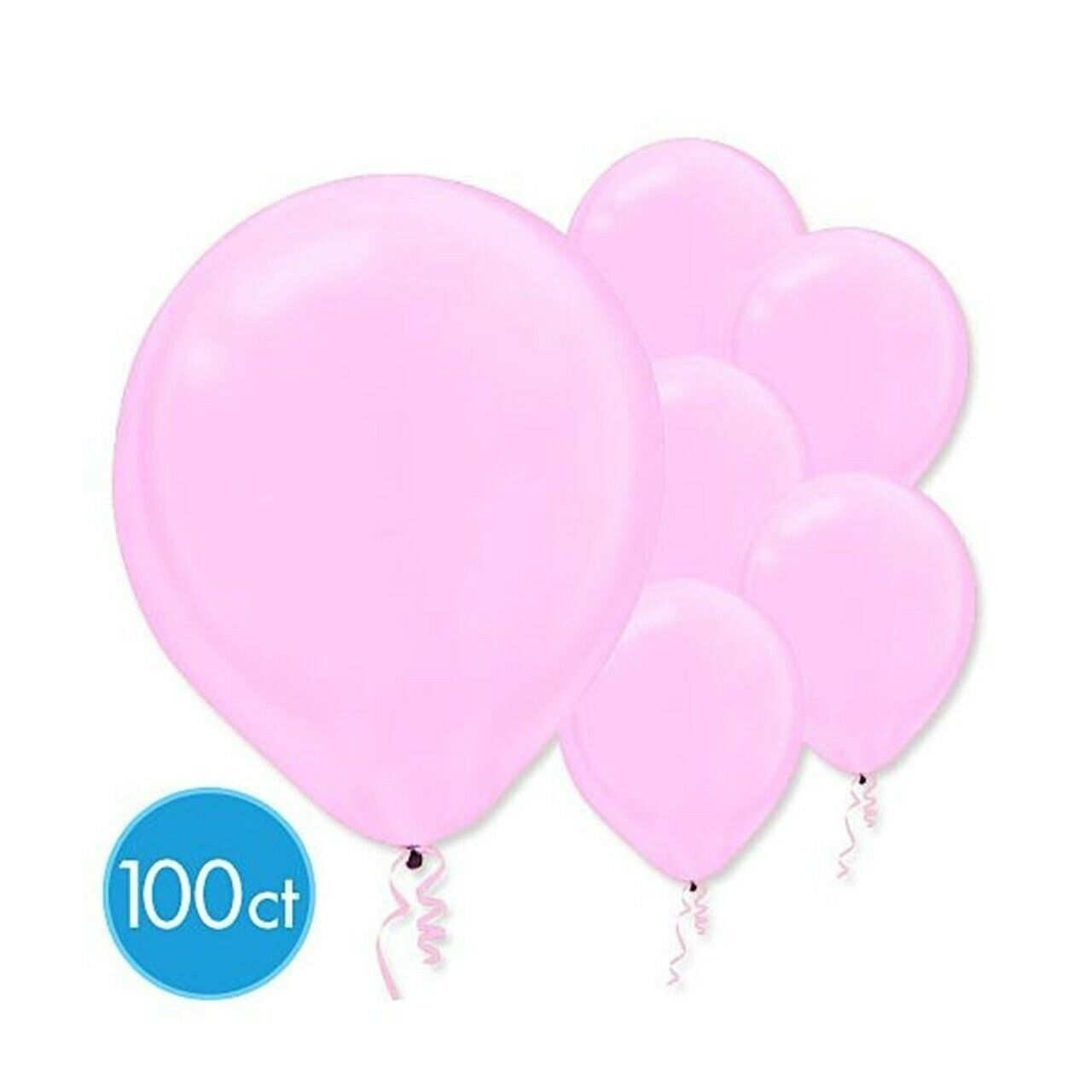 "Primary image for Pearlized Pink Bulk Latex Balloons 12"" 100 Ct"