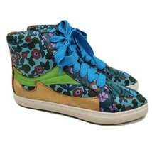 Coach High Top Shoes Size 5 Floral Sneakers Q8805 Pointy Toe - $77.21