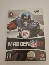 Madden NFL 07 EA Sports  - Nintendo Wii 2006 - Complete w/ Manual + Case - $5.00
