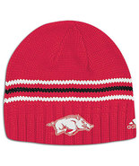 ARKANSAS RAZORBACKS NCAA ADIDAS SKI CAP TOBAGGA... - $9.99