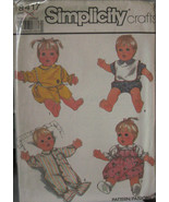 "Pattern 8417 Uncut  Doll Clothes 21"" Real Baby, Reborn - $6.99"