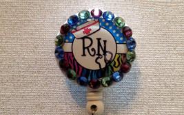 Rn Registered Nurse Badge Reel - RN Id Holder Lanyard - Swarovski Alliga... - $9.95