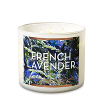 ☆☆FRENCH LAVENDER☆ BATH & BODY WORKS 3 WICK CANDLE JAR☆ FREE FAST SHIPPING  - $23.26