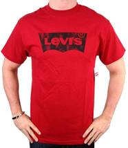 NEW NWT LEVI'S MEN'S PREMIUM CLASSIC  COTTON T-SHIRT SHIRT TEE RED image 2