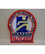 RUTGERS SPORTS Patch Souvenir Crest Emblem Sew SAFETY Awareness Collectible - $5.95