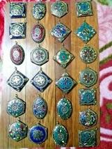 10 Banjara Tribal Tibetan Antique Assorted Pendant Boho Brass Vintage Je... - $28.54