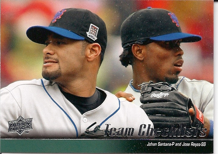 2010 New York Mets Team Checklist