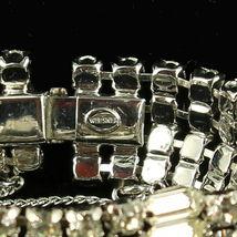 """Vintage Stunning Wiesner Wide Rhinestone Bling Bracelet Best Quality 4 Rows 7"""" image 4"""