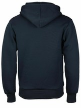 Men's Cotton Blend Zip Up Drawstring Fleece Lined Sport Navy Sweater Hoodie -  L image 2