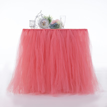Any Color TABLE TUTU Skirt Rainbow Table Tulle Skirt Tutu Tulle Table Decoration image 3
