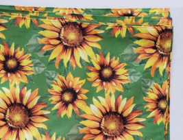 Sunflower Placemats, set of 4, Polyester Yellow Green Reversible Machine Wash image 3