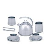 Melissa and Doug Stainless Steel Metal Tea Set 4251 - $25.24