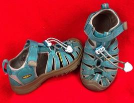 KEEN Kids Waterproof Whisper Sandals Blue Green Size 9 Little Boy Girl S... - $27.56