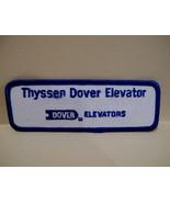 THYSSEN DOVER ELEVATORS Patch Souvenir Crest Emblem Sew On Collectible - $5.95