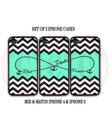 Personalized Mint Black Chevron BFF Best Friends iPhone Case - 3 iPhone ... - $29.99