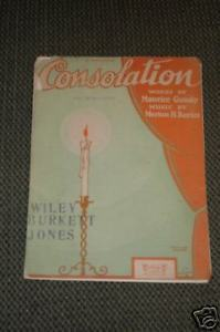 Primary image for CONSOLATION by Maurice Gunsky  Sheet Music