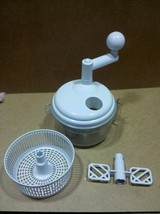 7BB68 FOOD PROCESSOR, MANUAL: INCLUDES PADDLE MIXER, COLLANDER, AND CUTT... - $7.91