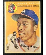 1954 Topps #128 Hank Aaron Rookie Reprint - MINT - Milwaukee Braves - $2.48