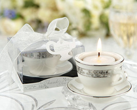 96 Mini Porcelain Teacup Tea Light Candle Wedding Party Bridal Shower Fa... - $223.20