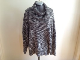 Calvin Klein Multi Color with Gold Metallic Threads Knit Cowl Neck Sweat... - $24.09