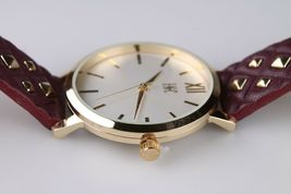 I.N.C. Women's Gold Tone Embossed Faux Leather Strap Studs 38mm Watch + Bracelet image 5