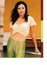 Shannen Doherty teen magazine pinup clipping by the pool sparky pants  - $3.50