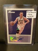 2009-10 Bowman 48 Autographs #48AKL Kevin Love : Minnesota Timberwolves - $23.70