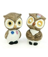 Vintage Owl Salt and Pepper Shaker Set Ceramic Adorable and Collectible - $14.40