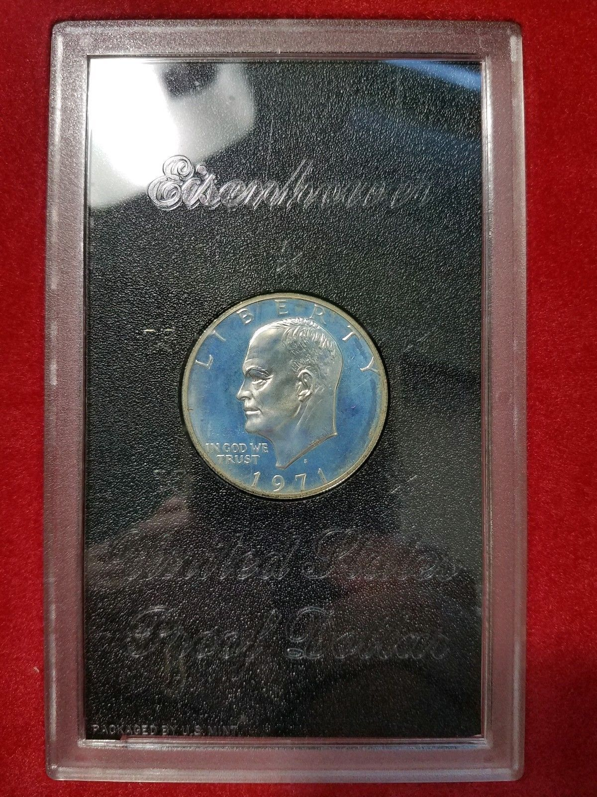 1971s Eisenhower Proof Dollar in brown box as shown