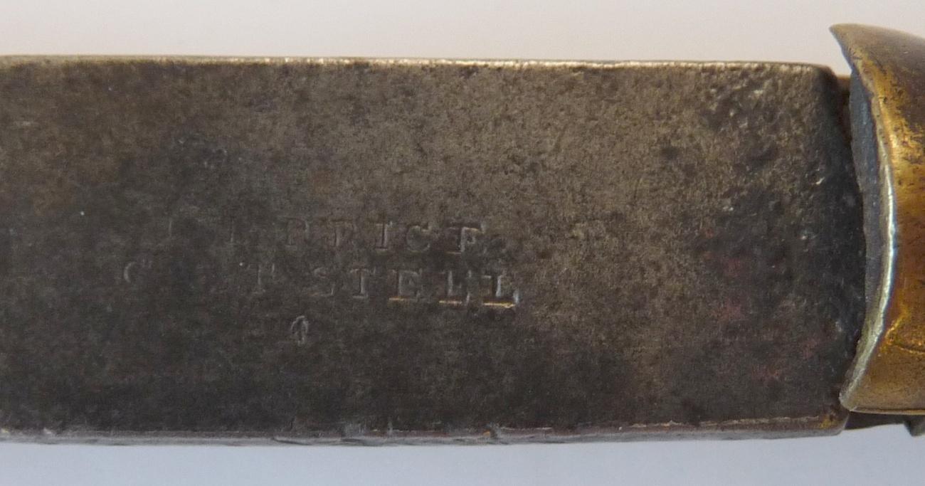 antique flat head screwdriver marked Price turn screw 1850 tool vintage
