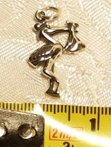 .925 Sterling Silver 3-D Stork With Baby Charm Newborn Infant 20x15mm image 3