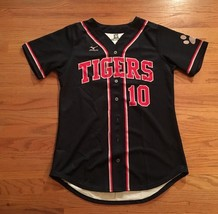New Mizuno Men's Large Tigers Full Button Baseball Jersey #10 Navy Blue - $19.79