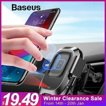 Car Phone Holder For Iphone Xr Intelligent Sensor Car Wireless Charger A... - $39.59