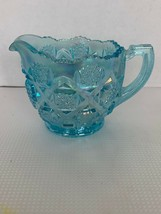 Modern Westmoreland OLD QUILT Ice Blue Carnival Glass Creamer - $25.00