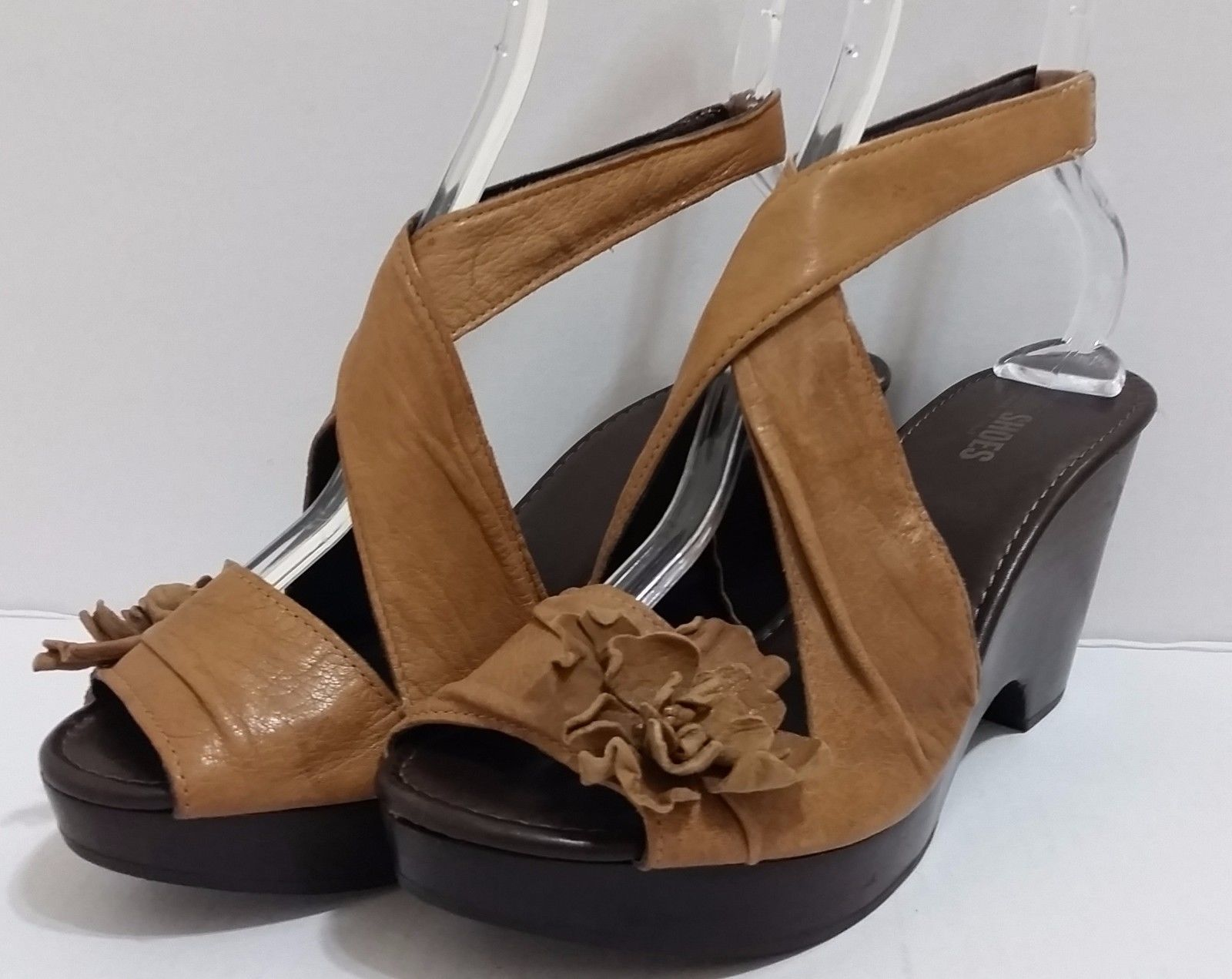 2579a233c1a NARA SHOES Brown Leather Sandals Wooden and 50 similar items
