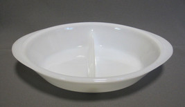 Jeannette Glasbake White Divided Oval Vegetable Casserole Baking Dish Mi... - $7.99