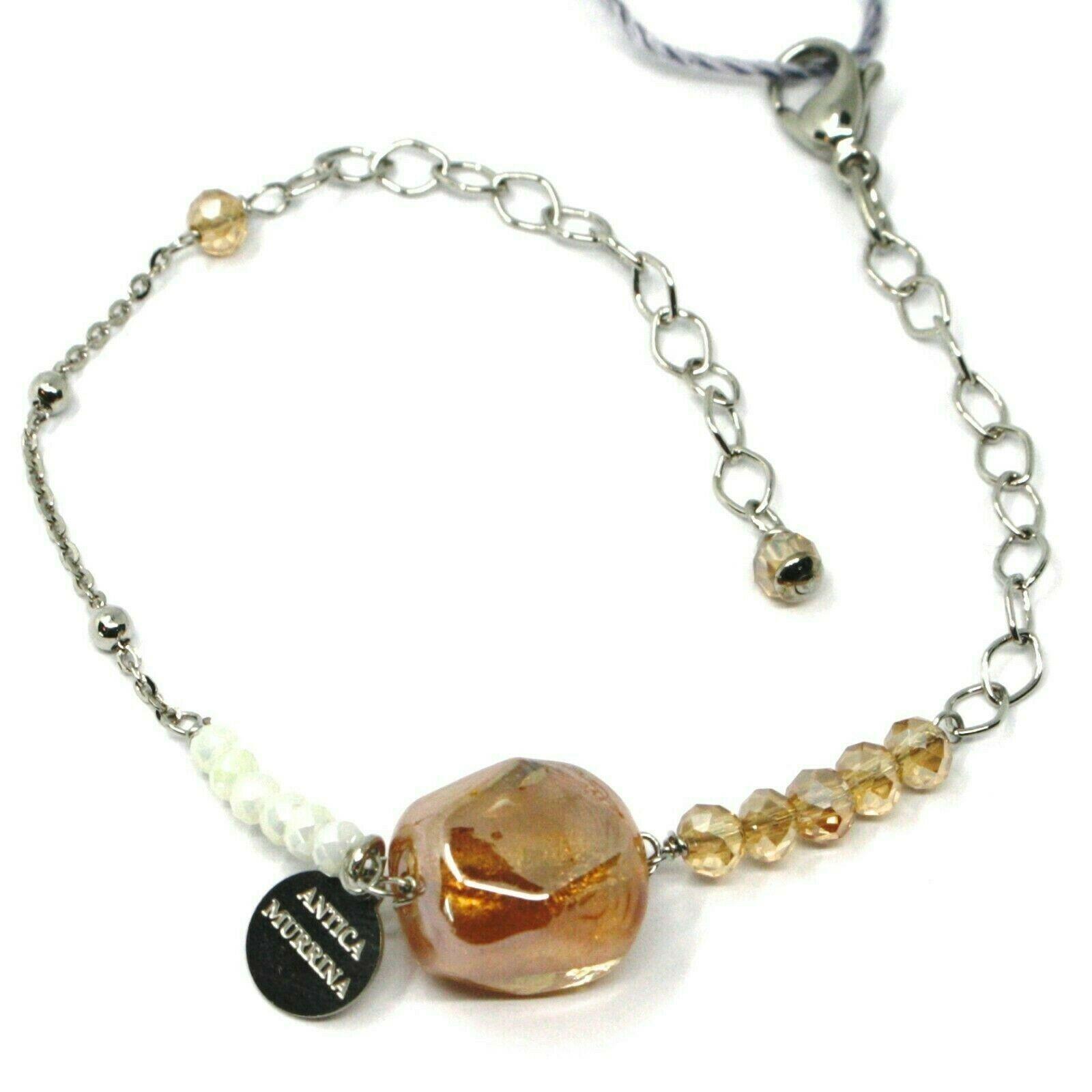 Bracelet Antica Murrina Venezia,BR774A10,Nugget Orange,Colour Amber