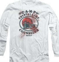 Friday the 13th Jason Camp Crystal Lake Counselor Horror Long Sleeve Tee WBM638 image 2