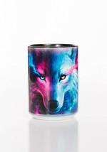 Where Light & Dark Meet Wolf Wolves Ceramic Coffee Mug Cup 15 oz Black - $19.79