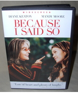 Diane Keaton  Because I Said So  DVD - $7.95