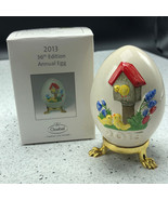 2013 GOEBEL ANNUAL EASTER EGG West Germany 36th edition figurine bird ho... - $29.65